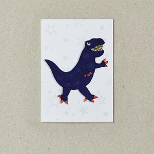 Blue Dinosaur Iron on Patch