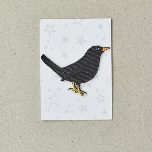 Black Bird Iron on Patch