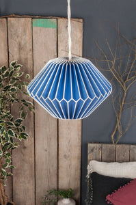 Blue Paper Lampshade