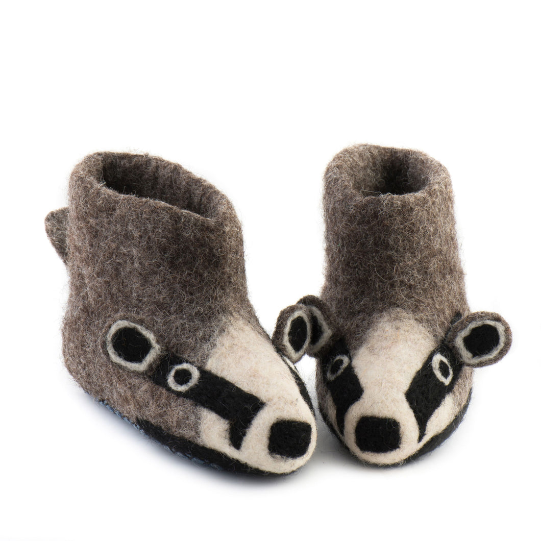 Billie Badger Slippers