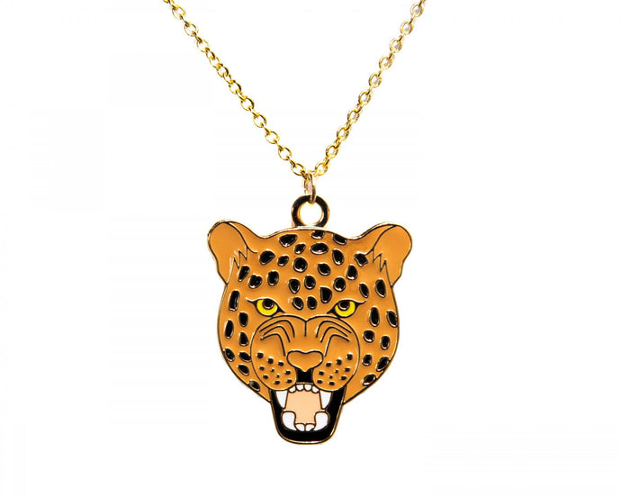 Roaring Leopard Necklace
