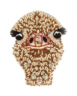 Beaded Ostrich Coin Purse