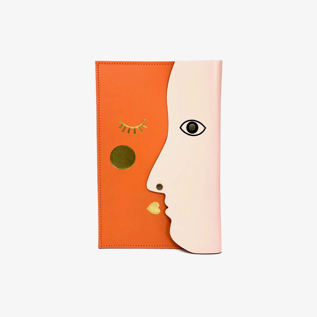 Xl Kissing Clutch Pale Pink Orange