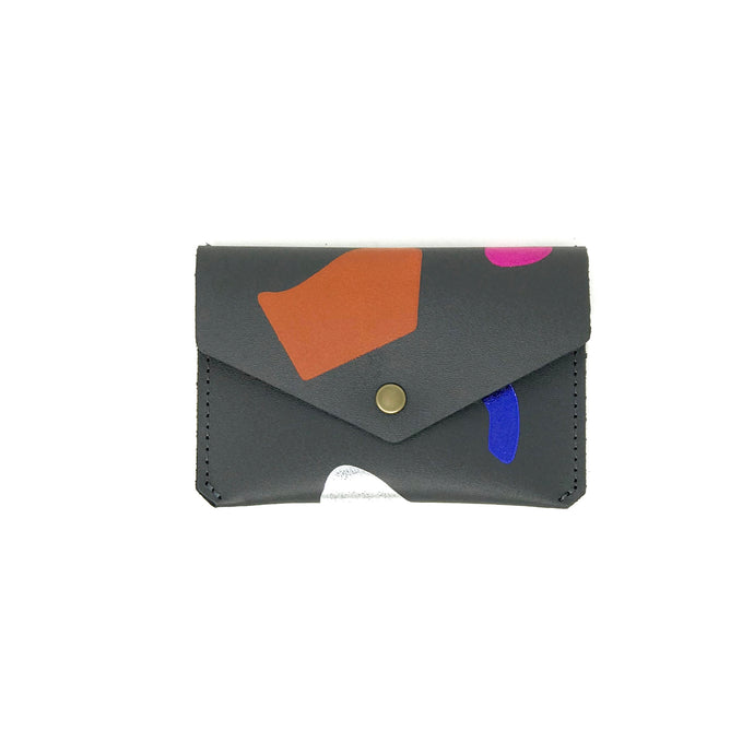 Abstract Grey Popper Purse
