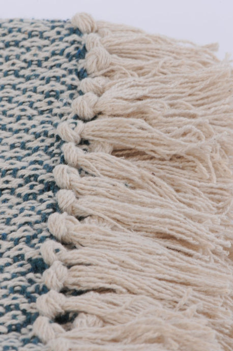 Jade cotton diamon weave throw
