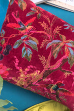 Load image into Gallery viewer, Red Bird of Paradise Cotton Velvet Cushion
