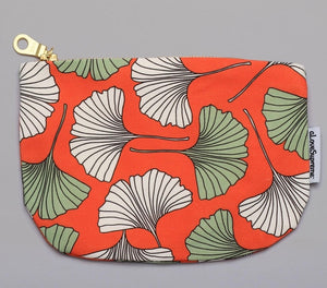 Red Fan Leaf Pouch
