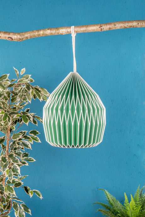Green paper lampshade