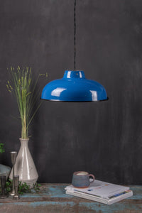 Medium Royal Blue Enamel Lampshade
