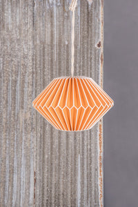 Orange paper lampshade
