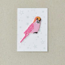 Load image into Gallery viewer, Pink Budgie Iron on Patch