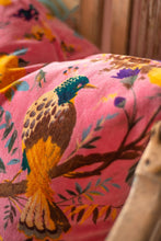 Load image into Gallery viewer, Coral Bird of Paradise Cotton Velvet Cushion
