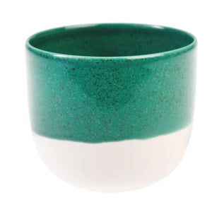Sea green dipped tea light holder