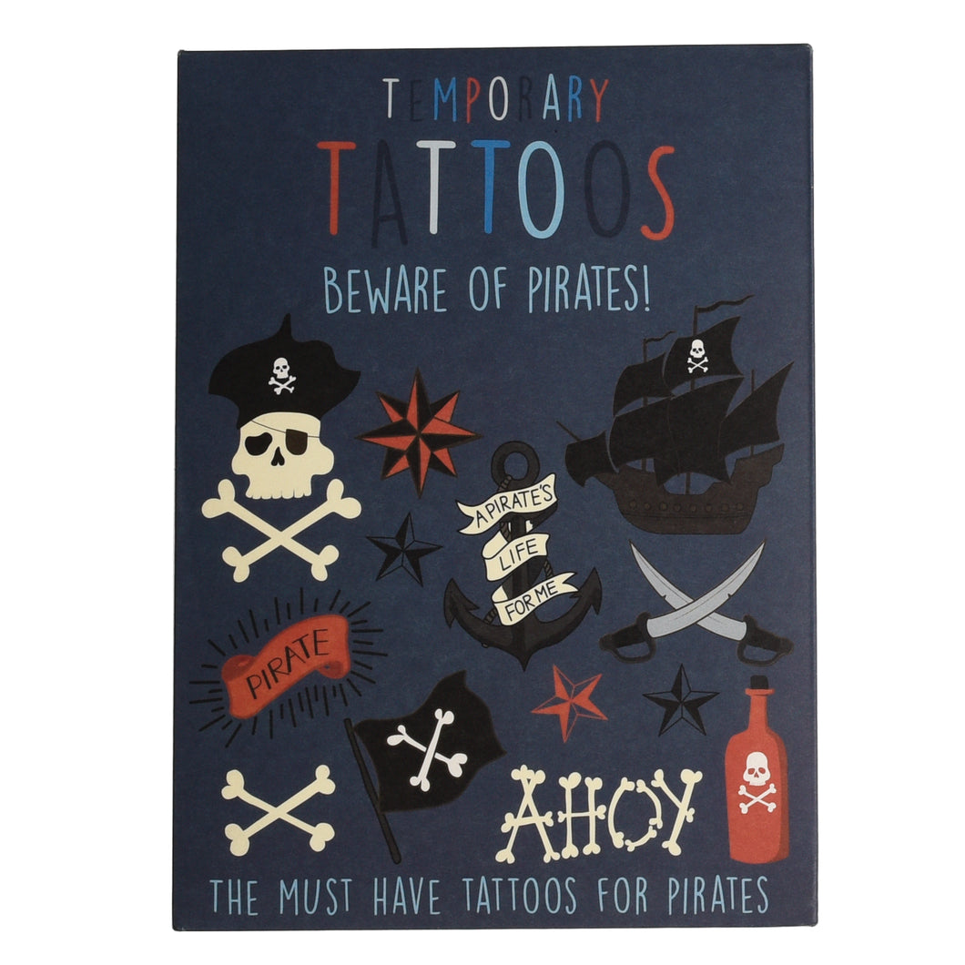Beware of the Pirate Temporary Tattoos