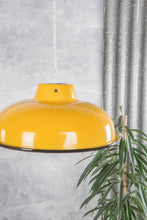 Load image into Gallery viewer, Medium Yellow Enamel Lampshade