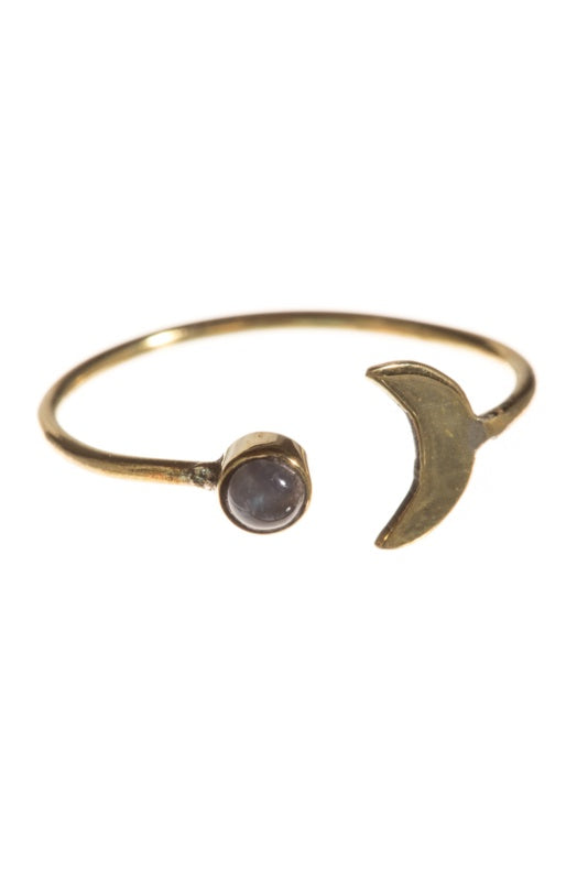Brass Ring Moon & Moonstone