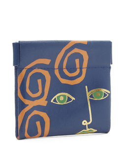 Portrait Snap Purse Blue