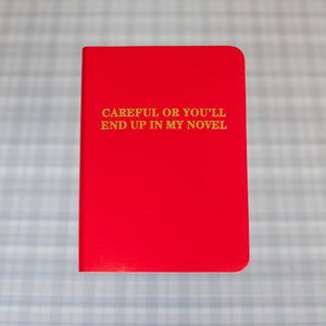 Careful journal red