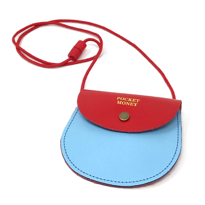 Pocket Money Purse Red / Light Blue