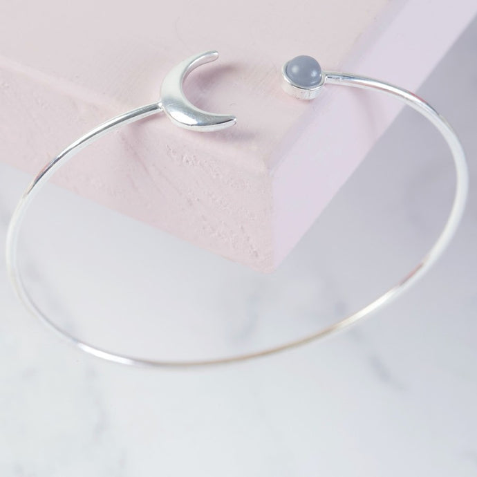 Silver Moon Open Bangle