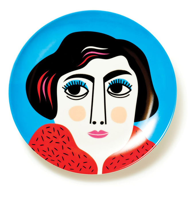 Ceramic Face Plate Mrs Edelmann