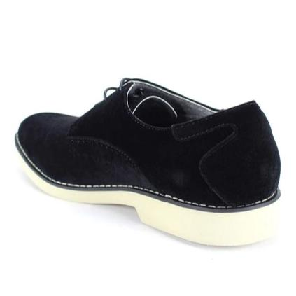 Steven Land Shoes | Perforated Derby | Suede | Black