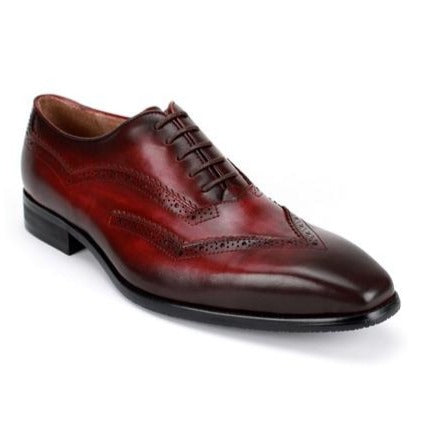 Steven Land Shoes | 5 Eyelet Lace-Up Leather Oxford | Burgundy