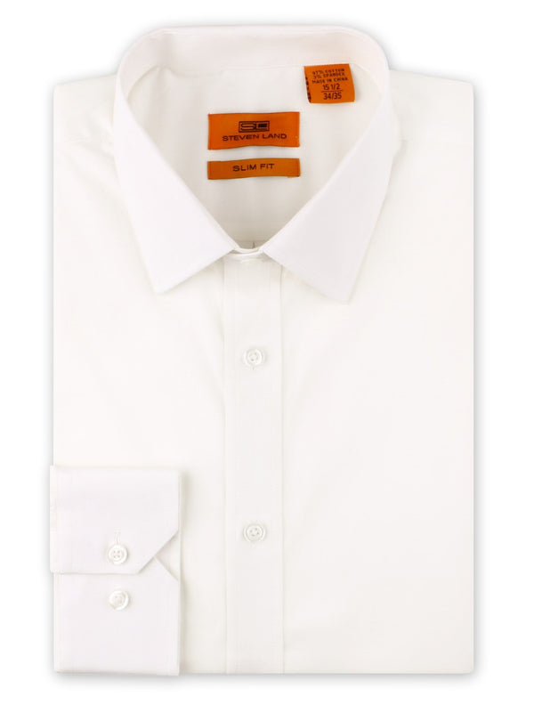 Steven Land Performance Stretch Dress Shirt | Slim Fit | Egg Shell