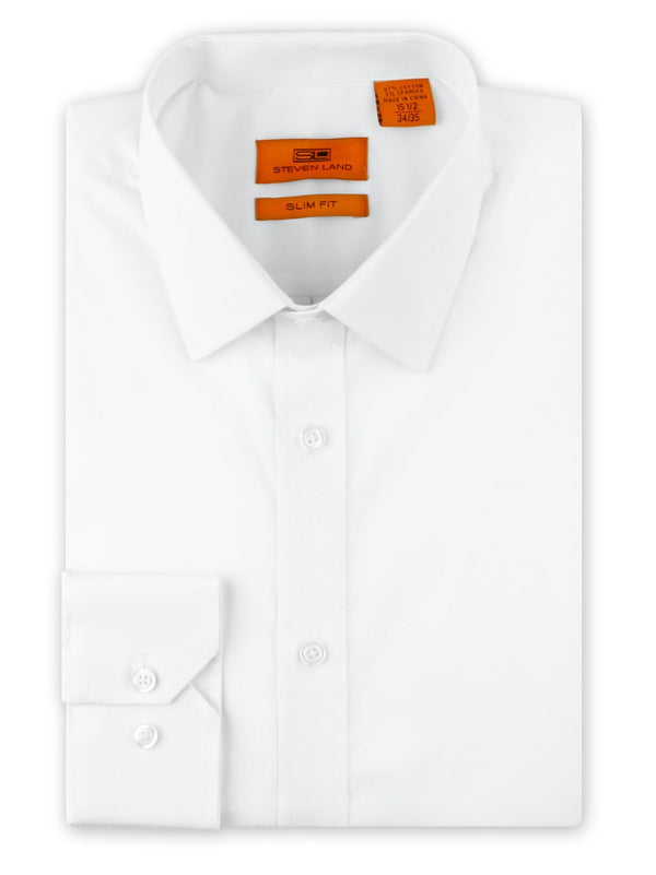 Steven Land Performance Stretch Dress Shirt | Slim Fit | White