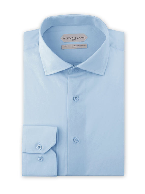 Non Iron Dress Shirt | DSW116B | Slim FIt | 100% Swiss Supper Soft Cotton | Blue