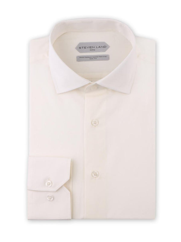 Non Iron Dress Shirt | DSW116B | Slim FIt | 100% Swiss Supper Soft Cotton | Egg Shell