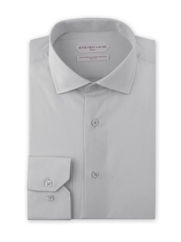Non Iron Dress Shirt | DSW116B | Slim FIt | 100% Swiss Supper Soft Cotton | Silver