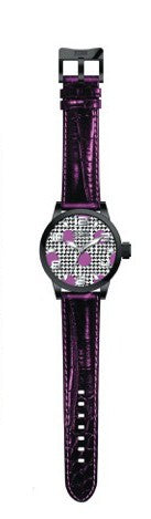 Steven Land Watch | Fashion Collection | Metallic Purple Leather Strap | Disco Days