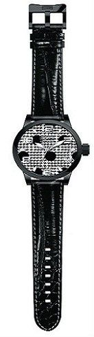 Steven Land Watch | Fashion Collection | Black Leather Strap | Polka Dot