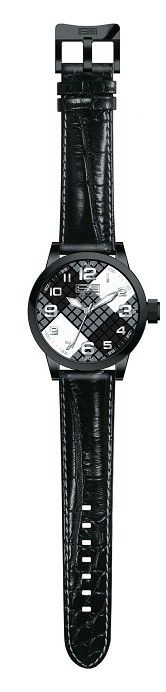 Steven Land Watch | Fashion Collection | Black Leather Strap | B&W