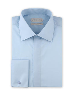 Dress Shirt | DSW116F | Classic Fit | 100% Cotton | Spread Collar | French Square Cuff | Blue
