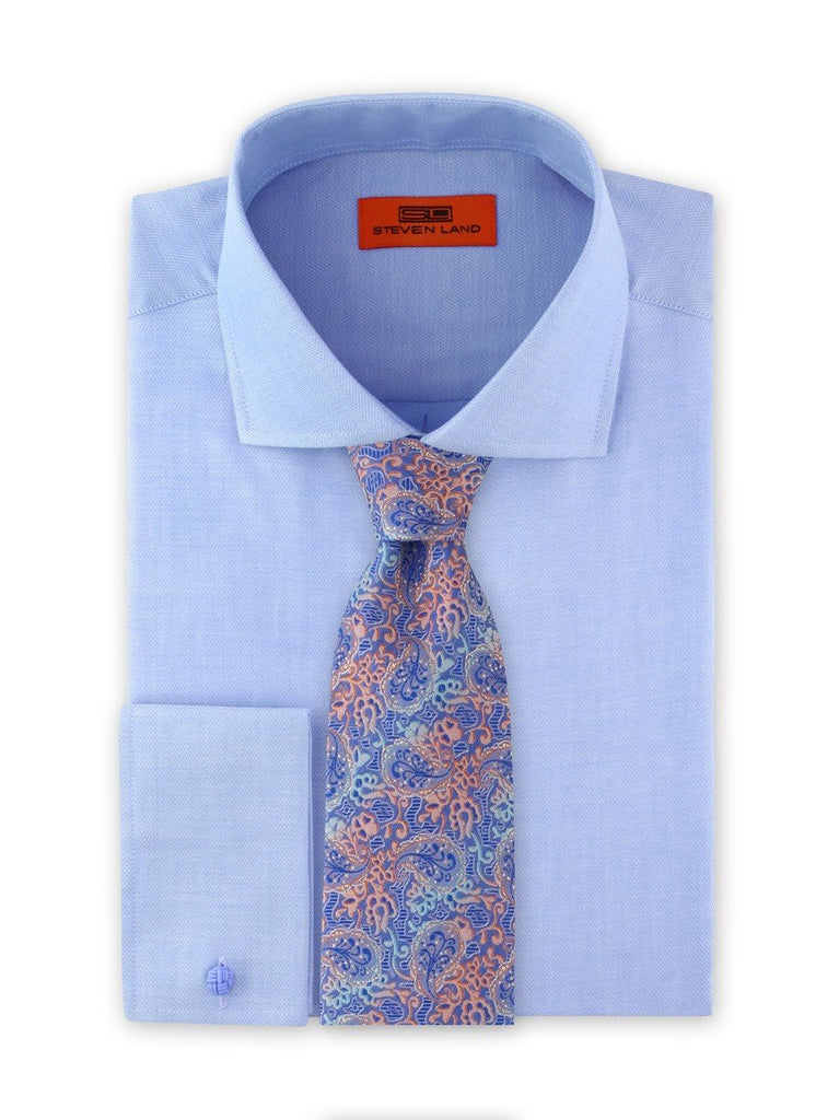 Dress Shirt | DC1942 | Classic Fit | Cotton blend | Spread Collar | French Square Cuff | Blue