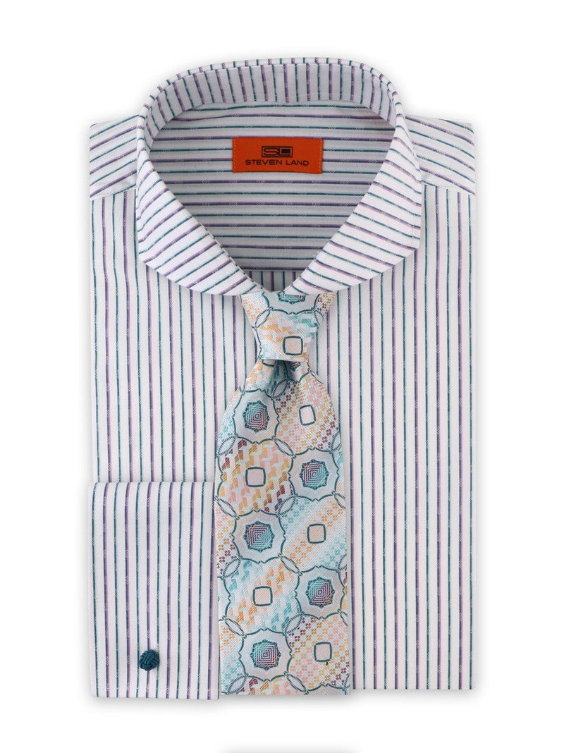 Dress Shirt | DC1934 | Cotton Blend | Cutaway Collar | French Square Cuff | Sea Foam