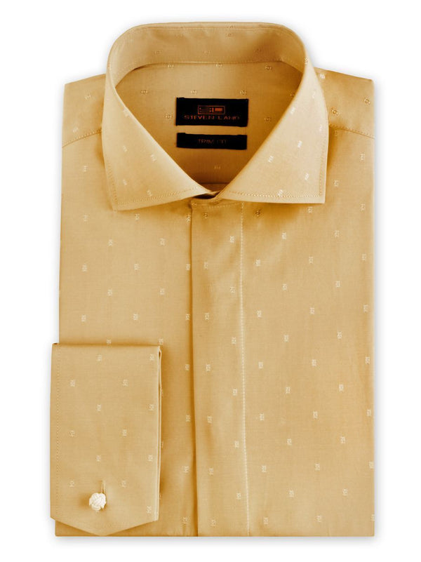 Dress Shirt | TA1906 | Trim Fit | Wide Spread Collar | French Novelty Cuff | Cream