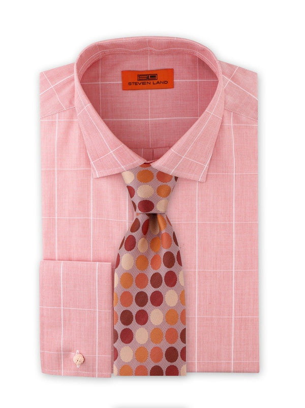 Dress Shirt | DC1937 | Cotton Blend | Classic Fit | Spread Collar | French Square Cuff | Peach