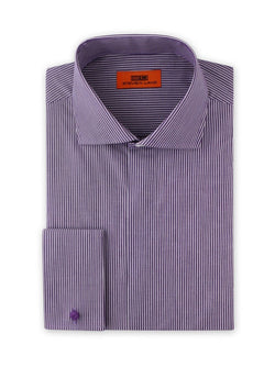 Dress Shirt | DC1941 | Classic Fit | Cotton blend | Spread Collar | French Square Cuff | Purple