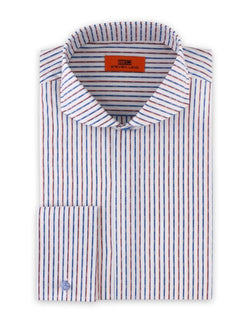 Dress Shirt | DC1934 | Cotton Blend | Cutaway Collar | French Square Cuff | Blue