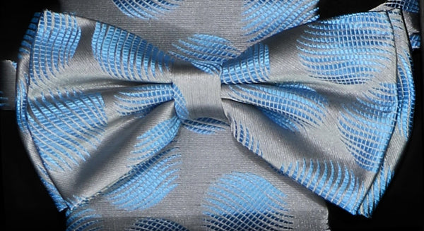 BTHD62 | HD BOW TIE | PRE- TIED | LARGE TEXTURED POLKA DOT BOW TIE