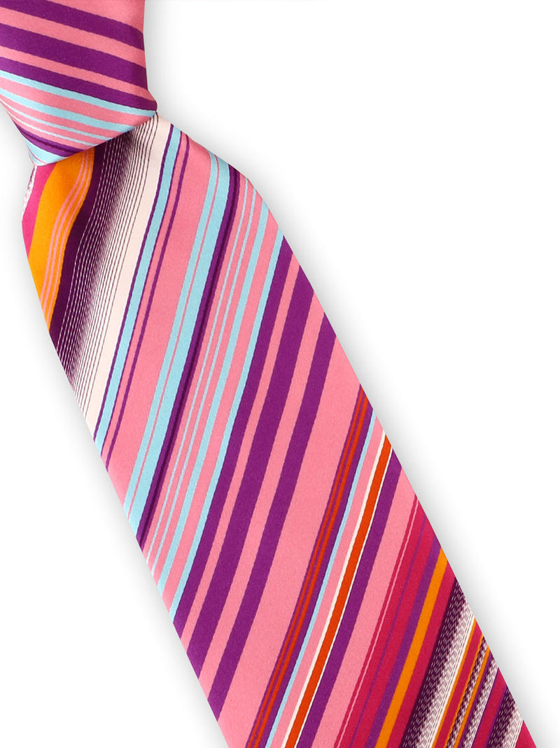 Steven Land | Energetic Stripe Silk Tie | Big Knot | BW205