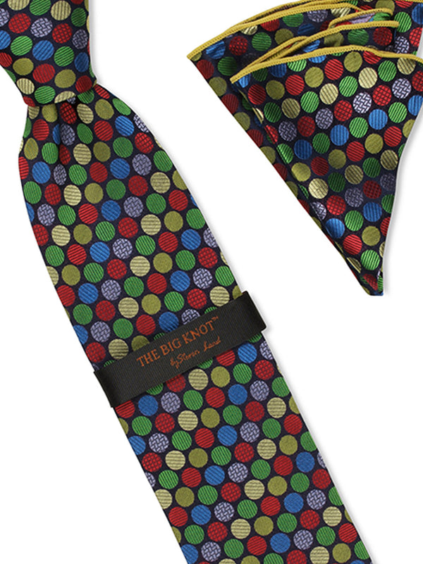 Tie and Hanky Set | 100% silk | Big-Knot | BWR566
