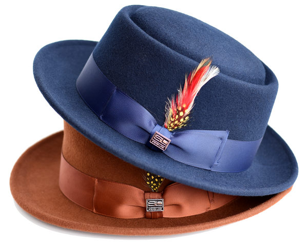 Steven Land Hats | Calvin Collection | 100% Wool | Navy Blue