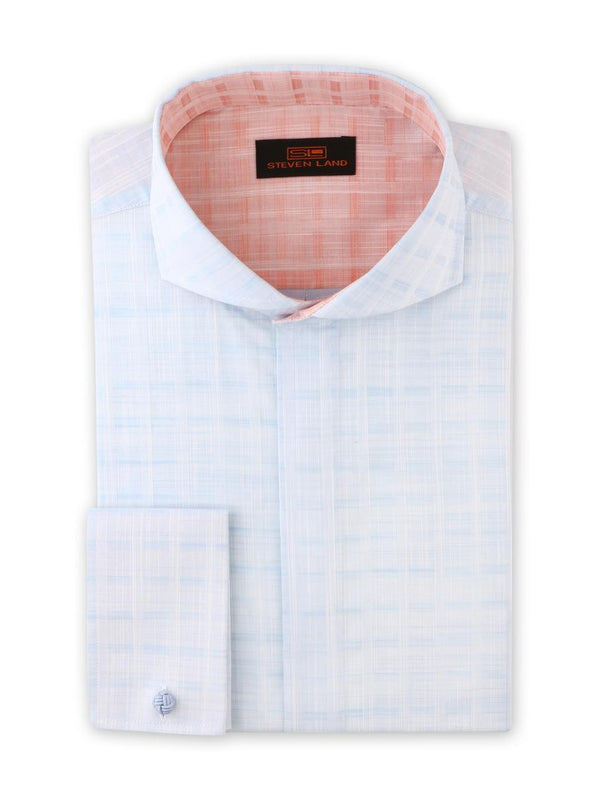 Dress Shirt | DA1902 | Classic Fit | Cutaway Collar | 100% Cotton | Plain Front | Blue