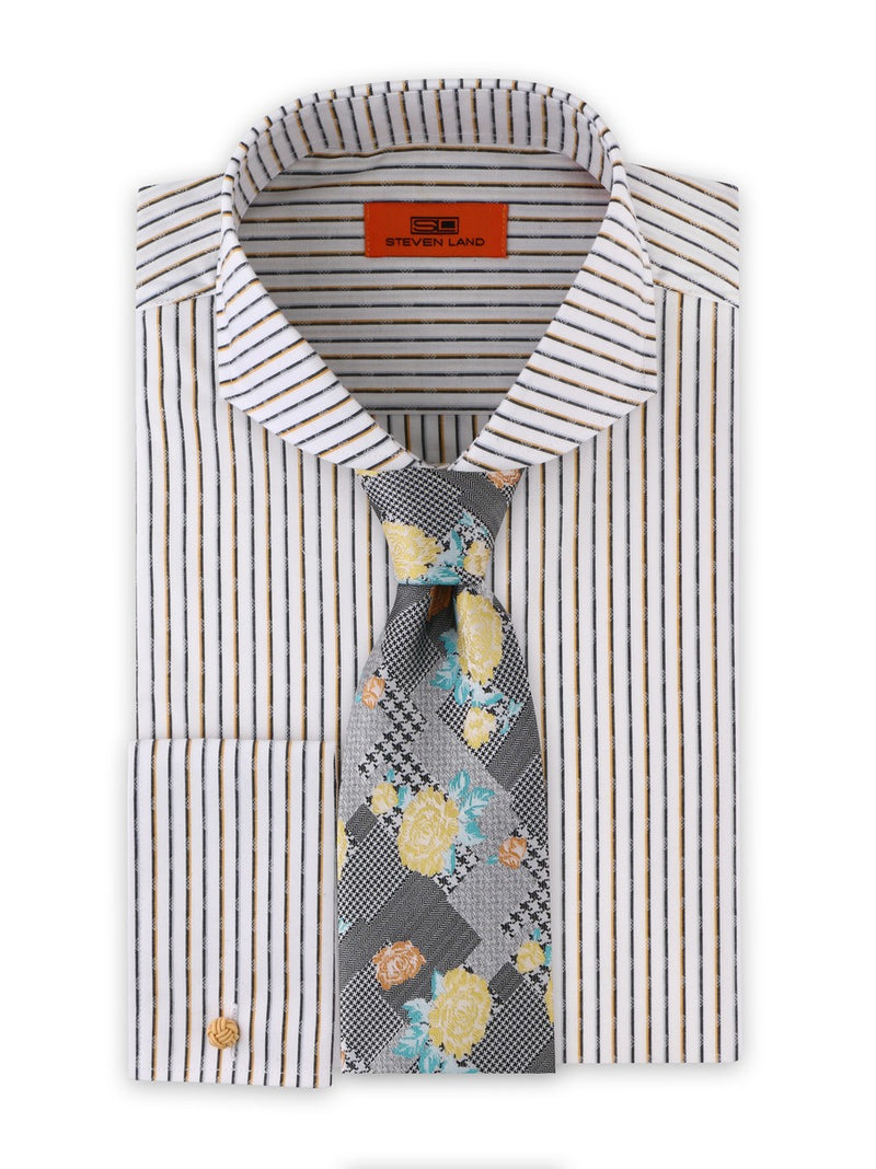 Dress Shirt | DC1934 | Cotton Blend | Cutaway Collar | French Square Cuff | Gold