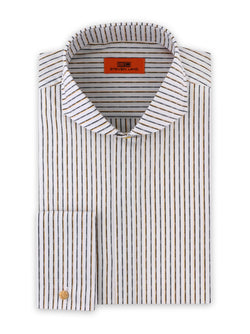 Micro Diamond Striped Dress Shirt | Gold | DC1934