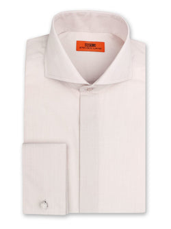 Steven Land Dress Shirt Classic Fit Cutaway Collar French Cuff Color Cream